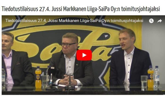 Kuvaruutukaappaus SaiPan verkkosivuilta. Kuva: Liiga-SaiPa Oy.